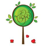 Illustration of isolated apple tree Royalty Free Stock Photography