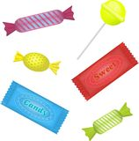 Illustration of isolated candies set on white Stock Photo