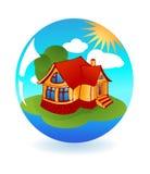 Illustration of isolated cartoon house Royalty Free Stock Photos