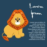 Illustration of an isolated character lion Stock Image