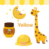Illustration of isolated color yellow group Royalty Free Stock Photo
