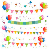 Colorful Garlands Royalty Free Stock Photos
