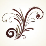 Illustration of isolated floral pattern Royalty Free Stock Photo