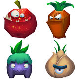 Illustration iSolated: Forest Monsters Set 2. Royalty Free Stock Photo