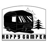 Illustration of isolated Hand Drawn, doodle Camper Stock Photos