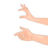 Illustration isolated hand in a variety of activities Stock Photography