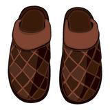 Illustration of isolated home slippers Stock Photos