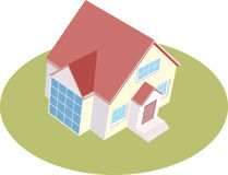 Illustration of a isolated house. Vector illustration of a isolated house Stock Image