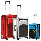 Illustration of isolated luggage Stock Photography