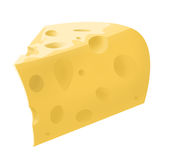 Illustration of isolated piece of cheese Royalty Free Stock Images