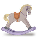Illustration of isolated rocking horse on white. Vector vector illustration