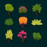 Illustration Isolated Set of Cartoon Tree Royalty Free Stock Photo