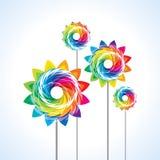 Illustration of isolated a toy pinwheel Stock Photos