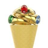 illustration isolerad för makrodillande för zoom 3D glass med tre stock illustrationer