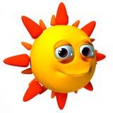 illustration isolerad sun 3d Royaltyfri Foto