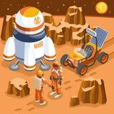 Illustration isométrique d'exploration de Mars illustration libre de droits