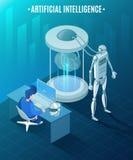 Illustration isométrique d'intelligence artificielle illustration libre de droits