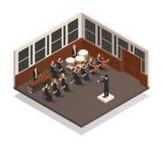 Illustration isométrique d'orchestre illustration libre de droits