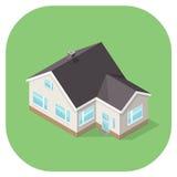 Illustration isométrique d'une icône à la maison d'Internet Images stock