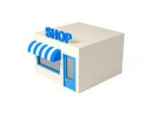 illustration isométrique de boutique du style 3d Photographie stock