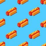 Illustration isométrique de hot-dogs Images stock