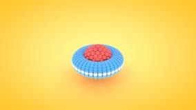 Illustration isométrique de rangée d'atome de tore, rendu 3D illustration de vecteur