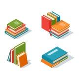 Illustration isométrique de vecteur d'icône de livre illustration stock