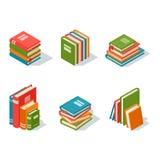 Illustration isométrique de vecteur d'icône de livre illustration libre de droits