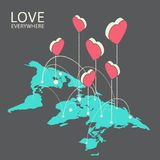 Illustration isométrique pour la Saint-Valentin Photo libre de droits