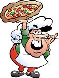 Illustration of an Italian Pizza Baker Stock Images