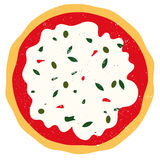 Pizza vector. Vector illustration of an italian pizza isolated on white background Stock Photo