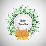Illustration jüdischen Feiertag Chanukka-Hintergrundes lizenzfreie abbildung