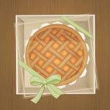 Jam tart in the box. Illustration of jam tart in the box Royalty Free Stock Photo