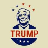 Illustration jamais Donald Trump, conception plate Photographie stock