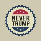 Illustration jamais Donald Trump, conception plate Photographie stock libre de droits