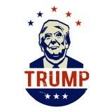 Illustration jamais Donald Trump, conception plate illustration libre de droits