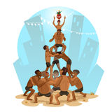Illustration Janmashtami-Dahi-HANDI Lizenzfreies Stockbild