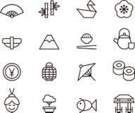 illustration japan för designelementsymboler stock illustrationer