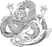 Illustration Japanese dragon Royalty Free Stock Photography