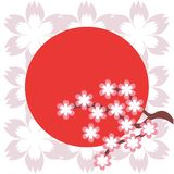 Illustration in japanese style. On white background Stock Photography