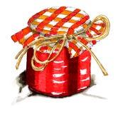 Illustration of jar jam Stock Images
