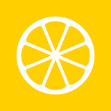 Illustration jaune de citron Image stock