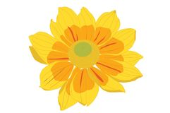 Illustration jaune de fleur Photos stock