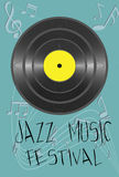 Illustration with jazz festival concept. Vector - Illustration with jazz festival concept Royalty Free Stock Photos