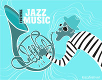 Illustration of a Jazz poster stock illustration