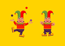 Illustration a jester character for halloween in  flat style Royalty Free Stock Photography