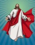 Jesus Open Arms. Illustration of Jesus Christ greeting you with open arms stock illustration