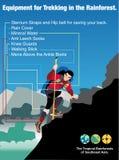 Illustration journey vector, Equipment for Trekking in the Rainforest. Stock Images