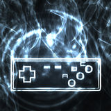 Illustration of the joystick. Abstract illustration of the video game joystick Stock Images