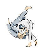 Illustration of a judo match Royalty Free Stock Images